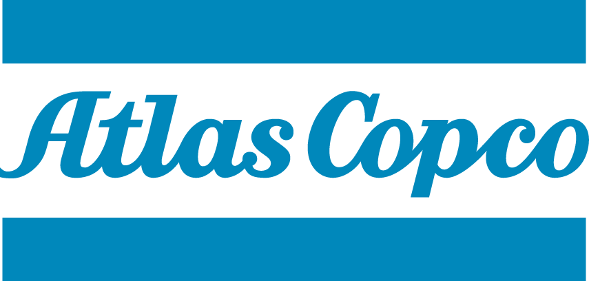 Atlas Copco logo blue
