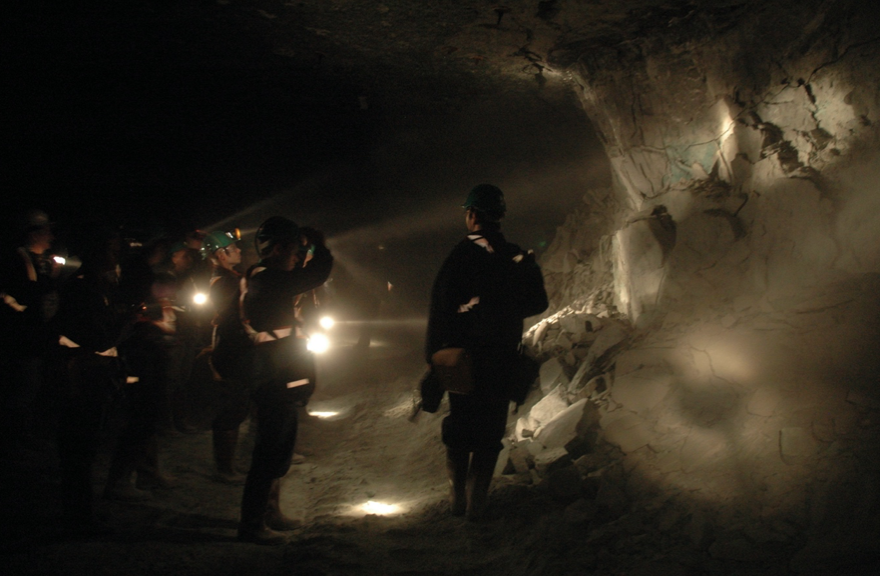 Image of people in a mine